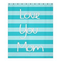 Love You Mom Stripes Line Blue Shower Curtain 60  X 72  (medium)