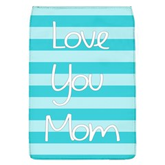 Love You Mom Stripes Line Blue Flap Covers (l)  by Alisyart