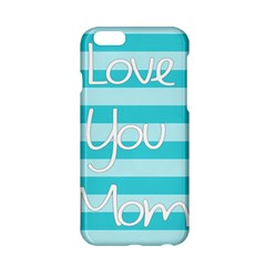 Love You Mom Stripes Line Blue Apple Iphone 6/6s Hardshell Case by Alisyart