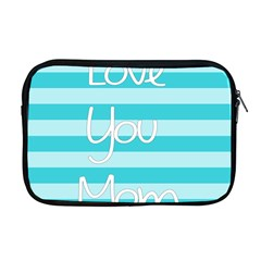 Love You Mom Stripes Line Blue Apple Macbook Pro 17  Zipper Case