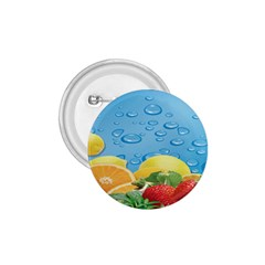 Fruit Water Bubble Lime Blue 1 75  Buttons by Alisyart