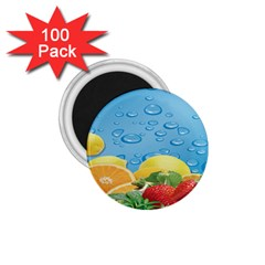 Fruit Water Bubble Lime Blue 1 75  Magnets (100 Pack)