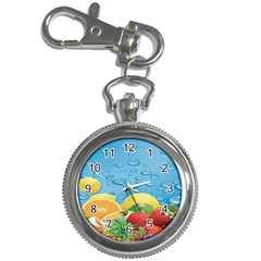 Fruit Water Bubble Lime Blue Key Chain Watches by Alisyart
