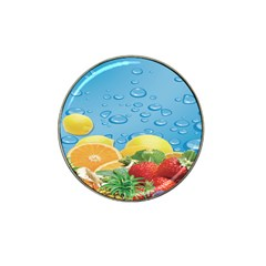 Fruit Water Bubble Lime Blue Hat Clip Ball Marker (10 Pack)