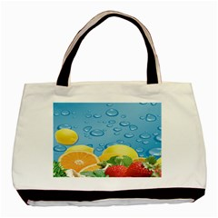 Fruit Water Bubble Lime Blue Basic Tote Bag by Alisyart
