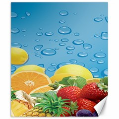 Fruit Water Bubble Lime Blue Canvas 20  X 24   by Alisyart