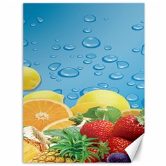 Fruit Water Bubble Lime Blue Canvas 36  X 48   by Alisyart