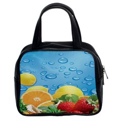 Fruit Water Bubble Lime Blue Classic Handbags (2 Sides) by Alisyart