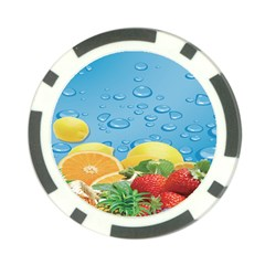 Fruit Water Bubble Lime Blue Poker Chip Card Guard (10 Pack) by Alisyart