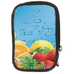 Fruit Water Bubble Lime Blue Compact Camera Cases by Alisyart