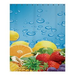 Fruit Water Bubble Lime Blue Shower Curtain 60  X 72  (medium)