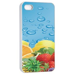 Fruit Water Bubble Lime Blue Apple Iphone 4/4s Seamless Case (white) by Alisyart