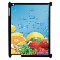 Fruit Water Bubble Lime Blue Apple Ipad 2 Case (black) by Alisyart
