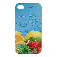 Fruit Water Bubble Lime Blue Apple Iphone 4/4s Premium Hardshell Case by Alisyart