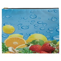 Fruit Water Bubble Lime Blue Cosmetic Bag (xxxl)