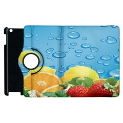 Fruit Water Bubble Lime Blue Apple Ipad 3/4 Flip 360 Case by Alisyart