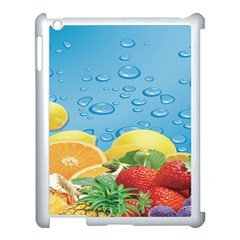 Fruit Water Bubble Lime Blue Apple Ipad 3/4 Case (white)