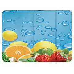 Fruit Water Bubble Lime Blue Samsung Galaxy Tab 7  P1000 Flip Case