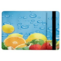 Fruit Water Bubble Lime Blue Ipad Air Flip by Alisyart