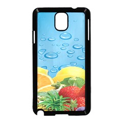 Fruit Water Bubble Lime Blue Samsung Galaxy Note 3 Neo Hardshell Case (black)