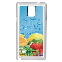 Fruit Water Bubble Lime Blue Samsung Galaxy Note 4 Case (white) by Alisyart