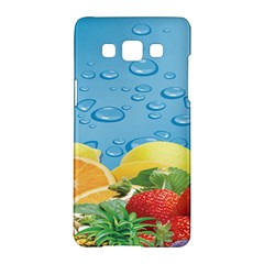 Fruit Water Bubble Lime Blue Samsung Galaxy A5 Hardshell Case