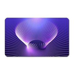 Lines Lights Space Blue Purple Magnet (rectangular)