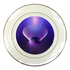 Lines Lights Space Blue Purple Porcelain Plates by Alisyart