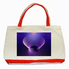 Lines Lights Space Blue Purple Classic Tote Bag (red) by Alisyart