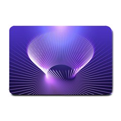 Lines Lights Space Blue Purple Small Doormat
