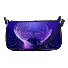 Lines Lights Space Blue Purple Shoulder Clutch Bags