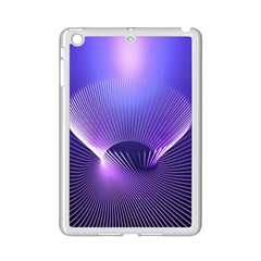 Lines Lights Space Blue Purple Ipad Mini 2 Enamel Coated Cases