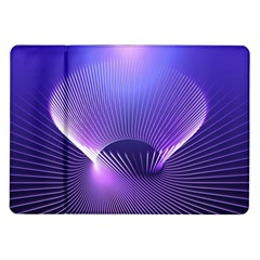 Lines Lights Space Blue Purple Samsung Galaxy Tab 10 1  P7500 Flip Case