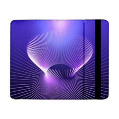 Lines Lights Space Blue Purple Samsung Galaxy Tab Pro 8 4  Flip Case by Alisyart