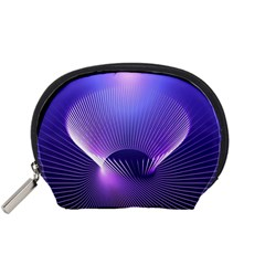 Lines Lights Space Blue Purple Accessory Pouches (small)