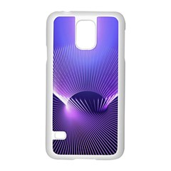 Lines Lights Space Blue Purple Samsung Galaxy S5 Case (white)