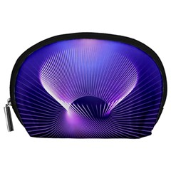 Lines Lights Space Blue Purple Accessory Pouches (large)  by Alisyart