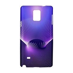 Lines Lights Space Blue Purple Samsung Galaxy Note 4 Hardshell Case by Alisyart