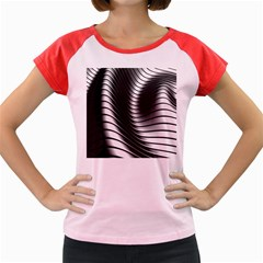 Metallic Waves Women s Cap Sleeve T Shirt