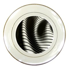 Metallic Waves Porcelain Plates by Alisyart