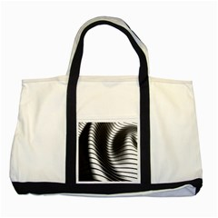 Metallic Waves Two Tone Tote Bag