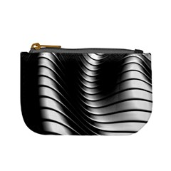 Metallic Waves Mini Coin Purses