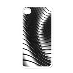 Metallic Waves Apple Iphone 4 Case (white) by Alisyart