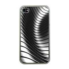 Metallic Waves Apple Iphone 4 Case (clear) by Alisyart