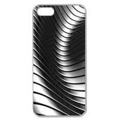 Metallic Waves Apple Seamless Iphone 5 Case (clear) by Alisyart