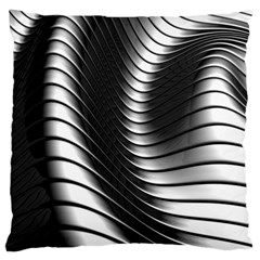Metallic Waves Standard Flano Cushion Case (two Sides)