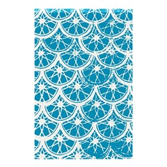 Lime Blue Star Circle Shower Curtain 48  X 72  (small)