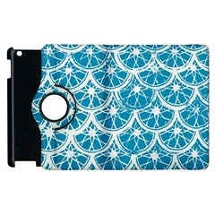 Lime Blue Star Circle Apple Ipad 3/4 Flip 360 Case by Alisyart