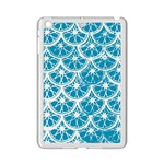 Lime Blue Star Circle iPad Mini 2 Enamel Coated Cases Front