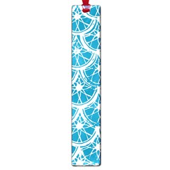 Lime Blue Star Circle Large Book Marks by Alisyart
